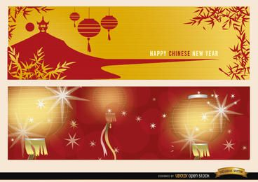 2 banners de ano novo chinês