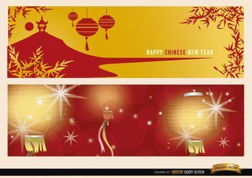 2 chinesische Neujahrsfahnen