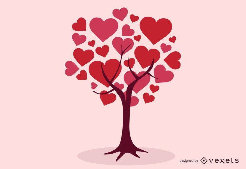 Abstract Hearts Tree
