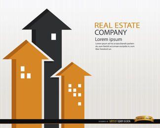 Real Estate buildings arrows