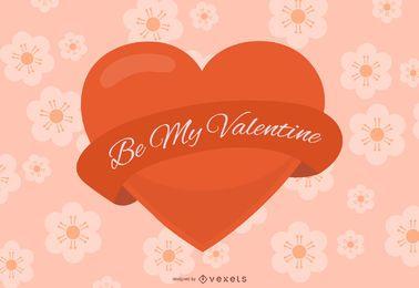 Sé mi corazón brillante de San Valentín
