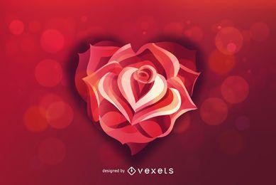 Fundo de dia dos namorados coração rosa