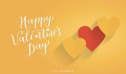 Zwei Falten aus Papier, Valentine Hearts