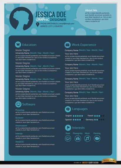 Plantilla de plan de estudios azul