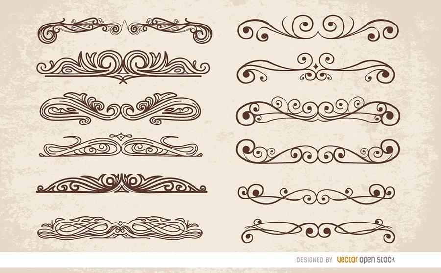 12 divisores de ornamentos de redemoinho