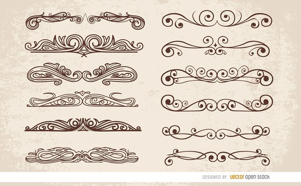12 Swirl ornaments dividers