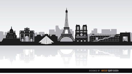 Paris marcos skyline fundo
