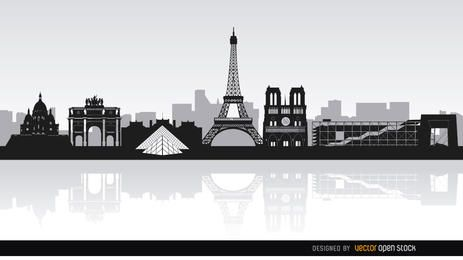 Wahrzeichen der Pariser Skyline