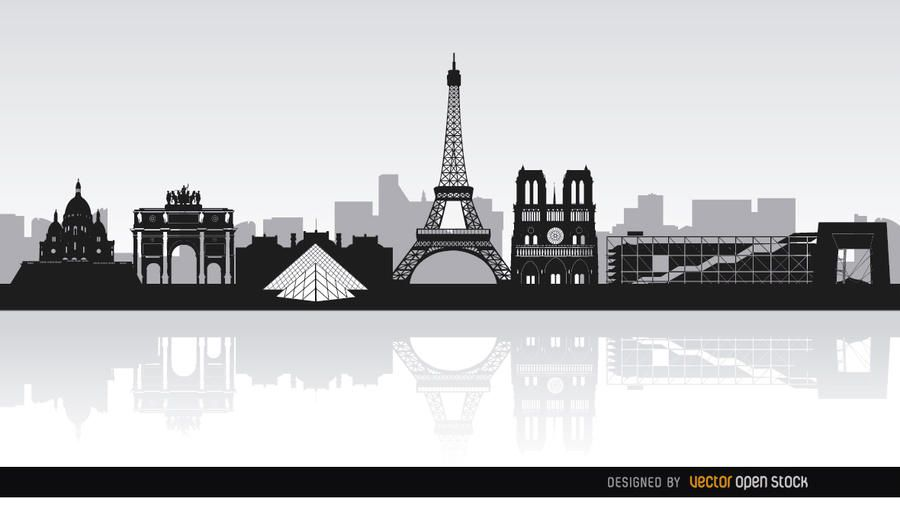 Paris skyline landmarks