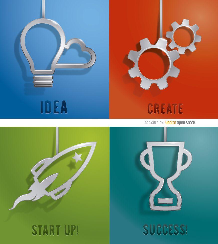 4 diseños comerciales metálicos colgantes