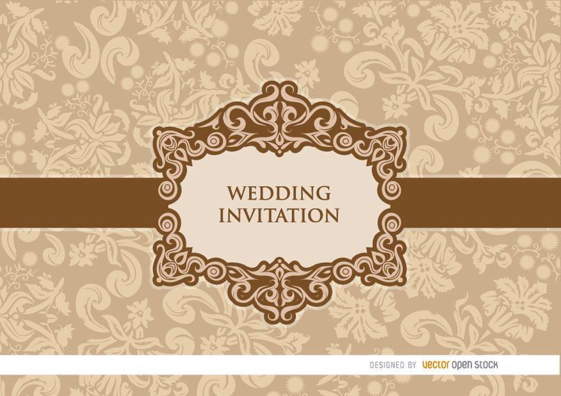 Convite floral do casamento do pêssego delicado
