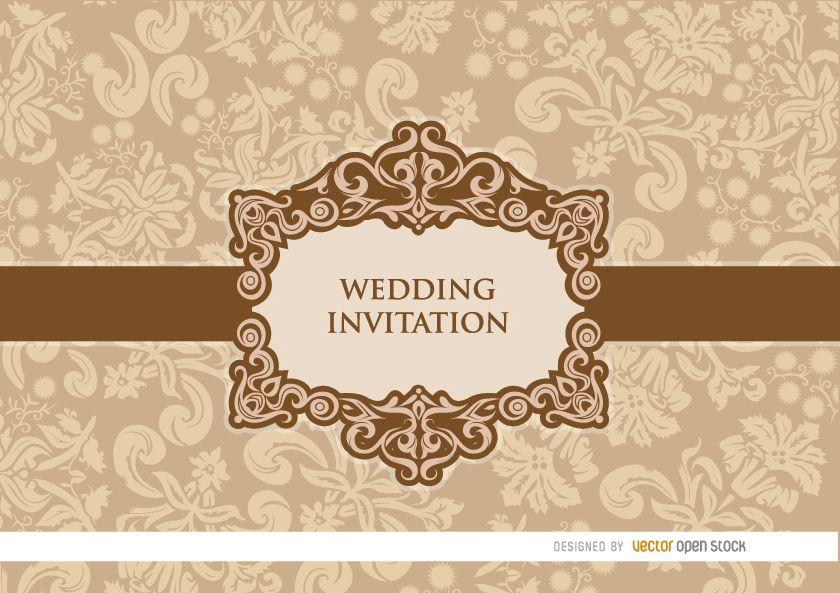 Invitación de boda floral melocotón suave