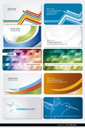 10 Curves polygons birds business cards