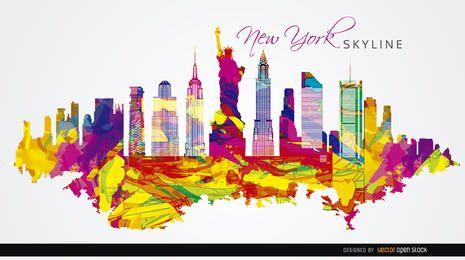 Ciudad de Nueva York el fondo colorido