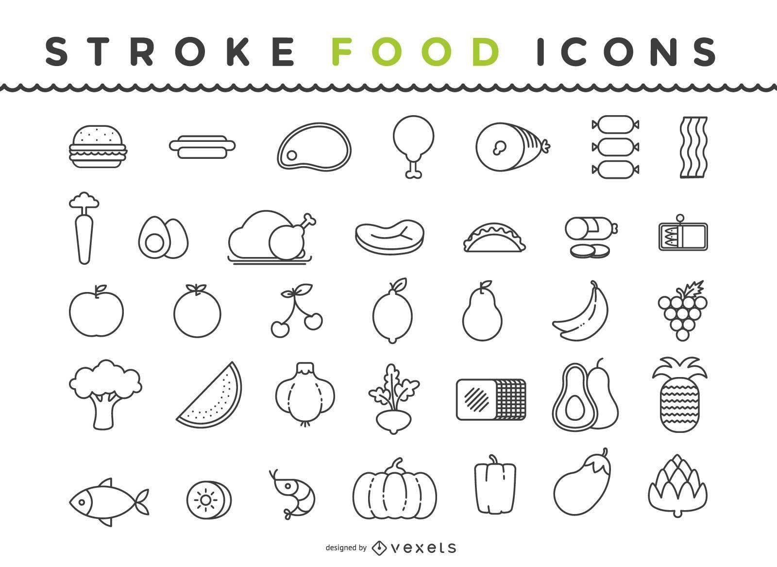 Food Icon Pack Gliederung