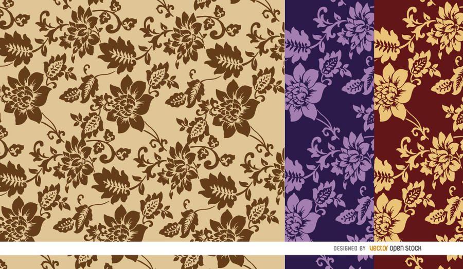 Fondo marrón patrón de flores