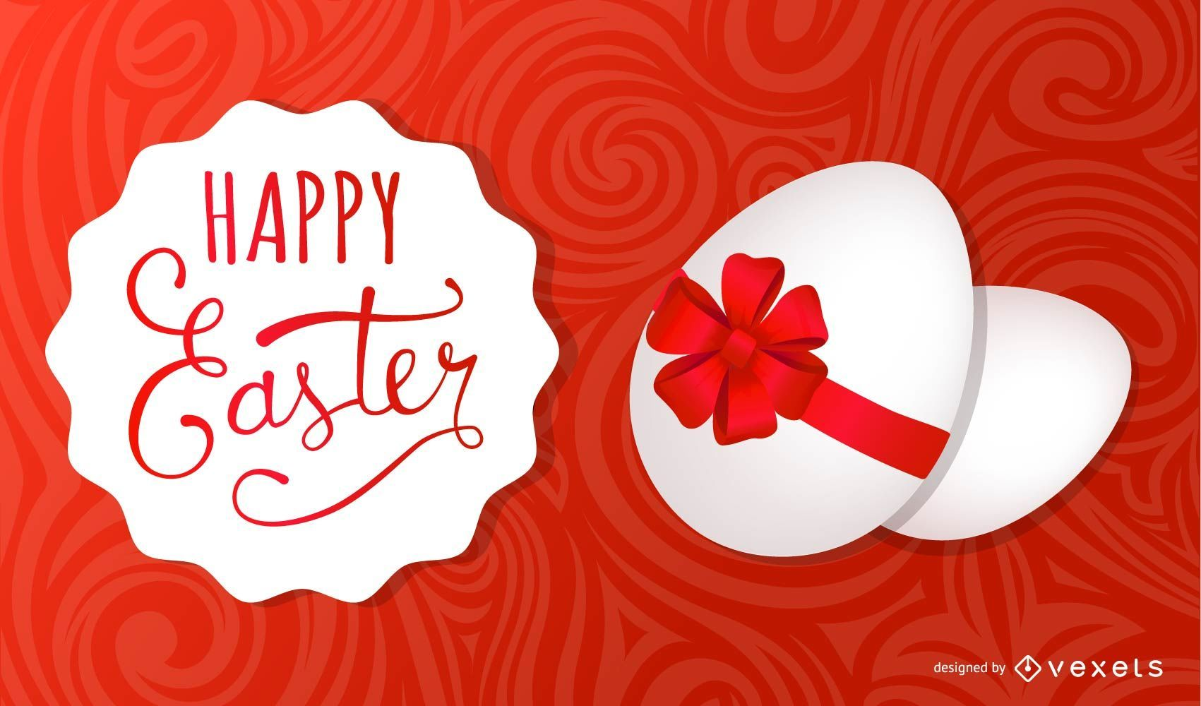 Ribbon Wrapped Egg Easter Card