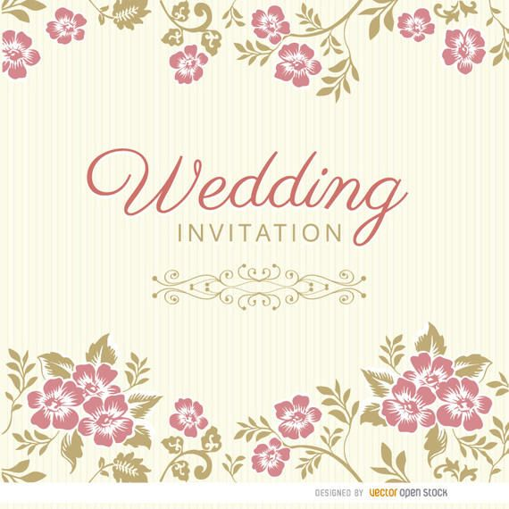 Floral leaves wedding invitation sleeve