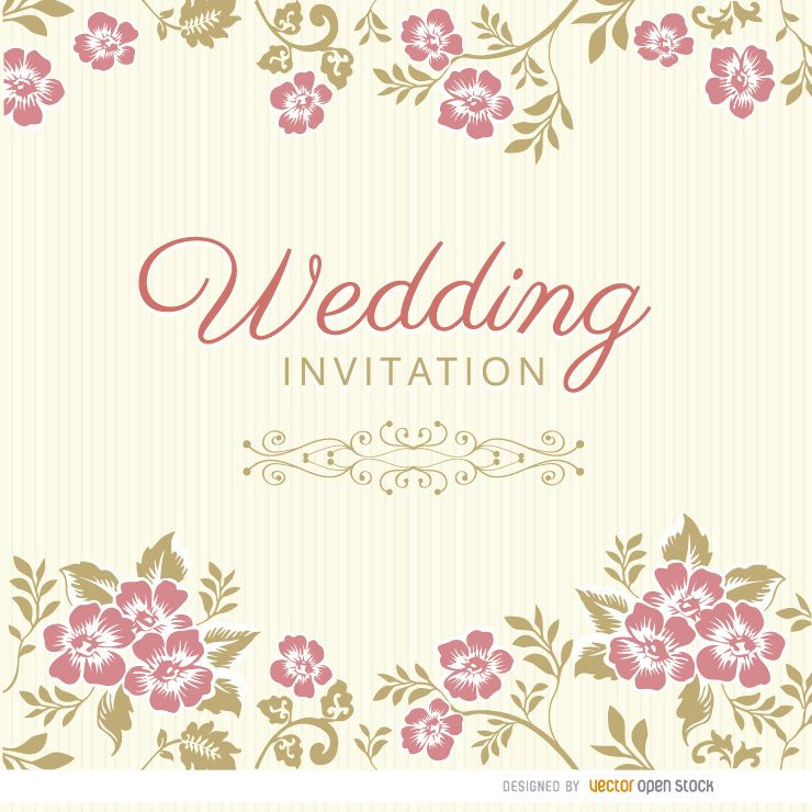 Invitation Party Wedding Free Vector Graphic On Pixabay: Floral Leaves Wedding Invitation Sleeve