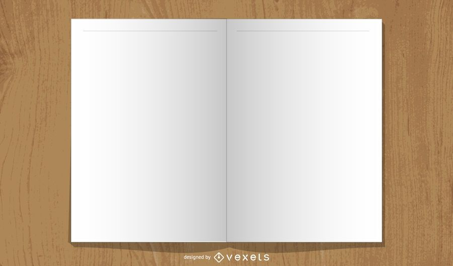 Blank Open Book Layout