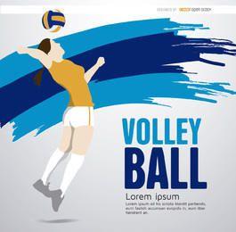 Menina jogador de voleibol