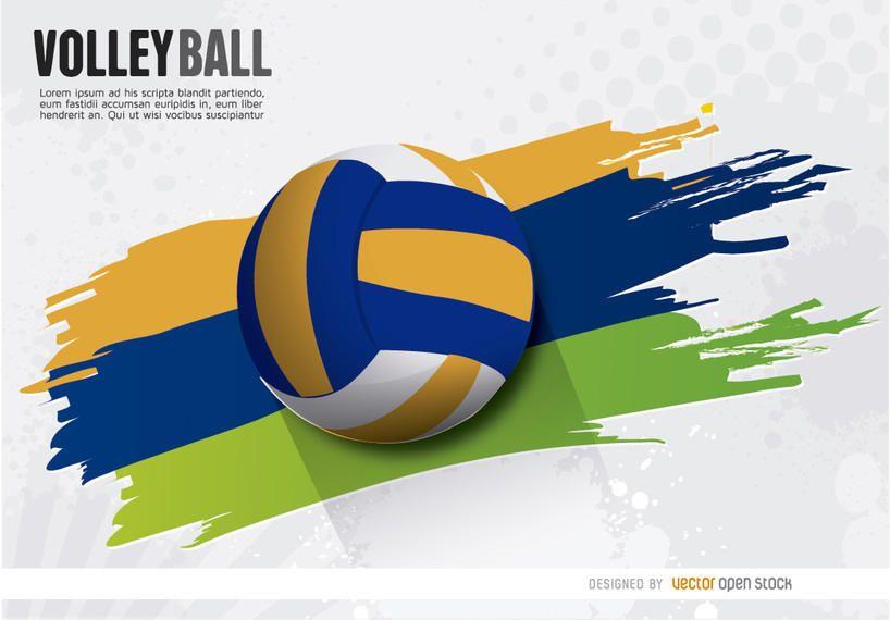 Deportes Pelotas Fondo Grunge: Voleibol Pintado Pelota Estela