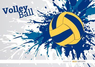 Diseño de pintura grunge de voleibol