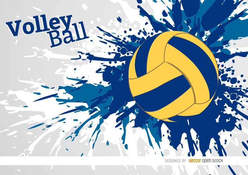 Abstract Grungy Background Volleyball Arrowhead Stock: Diseño Del Voleibol De La Pintura Del Grunge