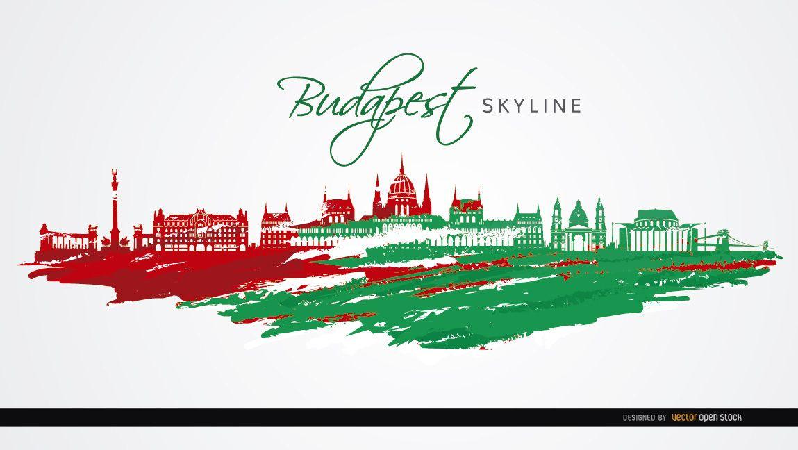 Colores de la bandera de monumentos de la ciudad de Budapest