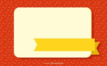 Gelb beschriftete quadratische Webbox