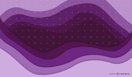 Purple Waves Dotted Pattern Background