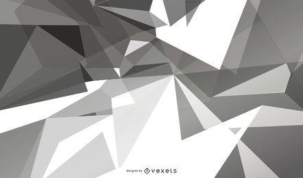 Fundo poligonal geométrico cinza