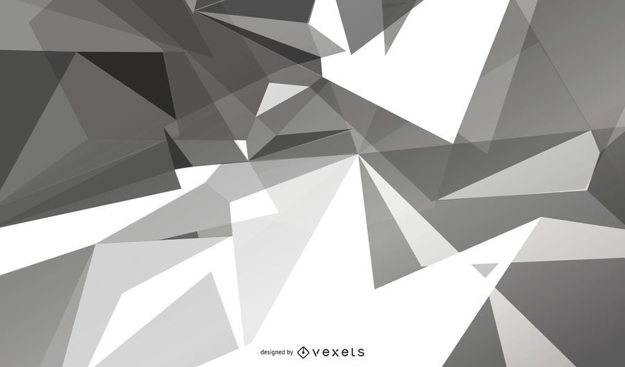 Grey Geometric Polygonal Background