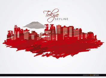 Edifícios Skyline de Tokyo fundo