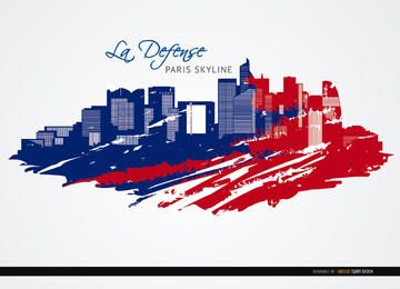La Défense de París horizonte fondo