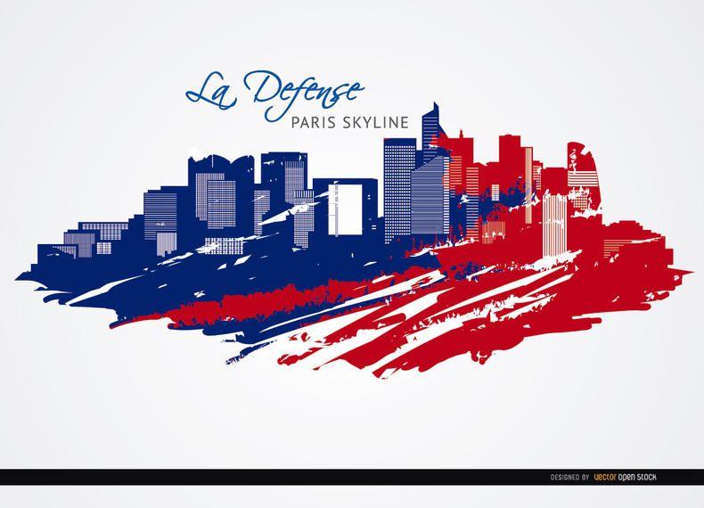 La Défense fundo do horizonte de Paris