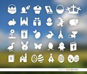 30 semana Santa e ícones de Páscoa