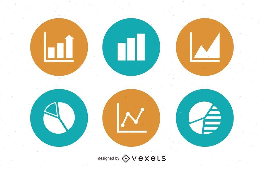 Graph & Chart Circles Icon Pack