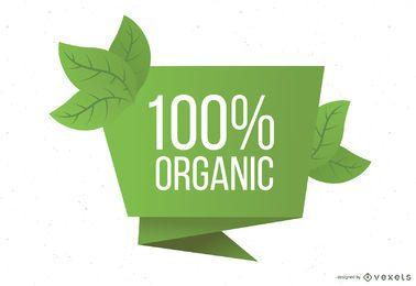 Geschweifte Papier-organische Fahnen-Schablone