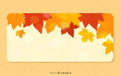 Folhas de outono caídas 3 bandeiras