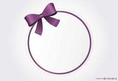 Banner de fita roxa circular