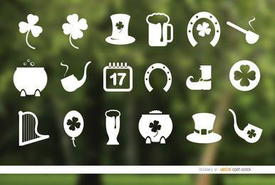 18 Dia de St. Patrick icons