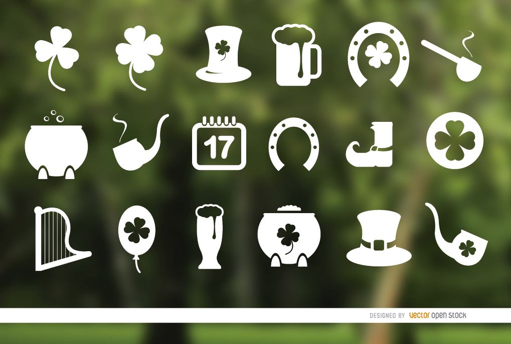 18 St. Patrick?s Day icons