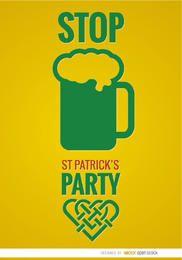 ST. Cartel de la cerveza del partido de Patrick