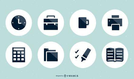 Conjunto de 15 iconos vectoriales