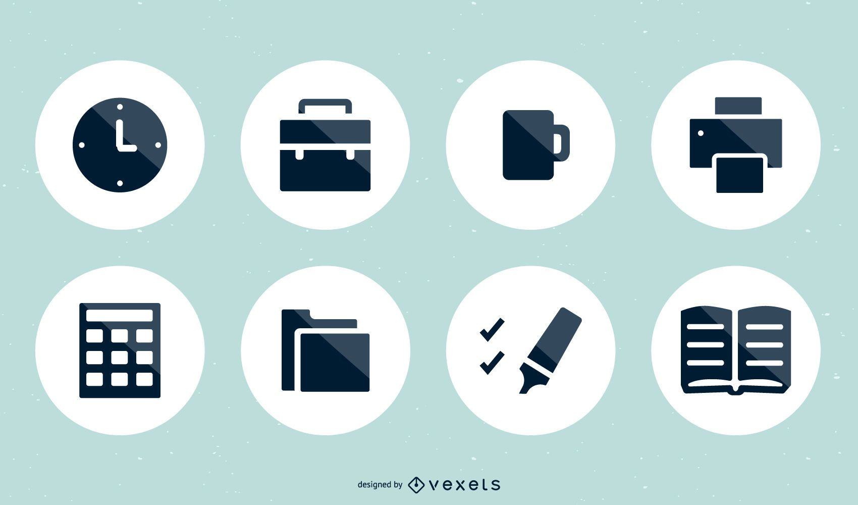 Conjunto de 15 ícones vetoriais