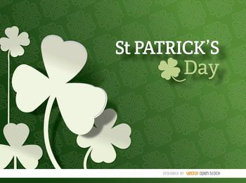 St. Patrick's Shamrock pattern background