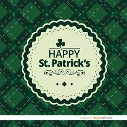 Rhombs fundo do St. Patrick com selo