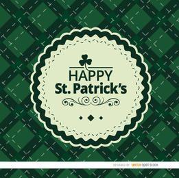 St. Patrick Rauten Hintergrund mit Dichtung