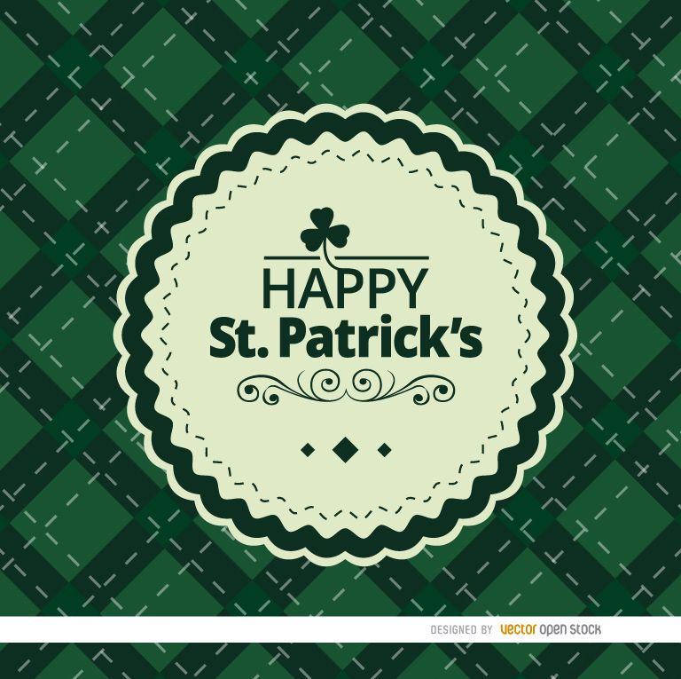 St. Patrick?s rhombs background with seal